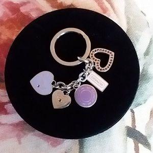 💜Coach keychain/purse charm💜